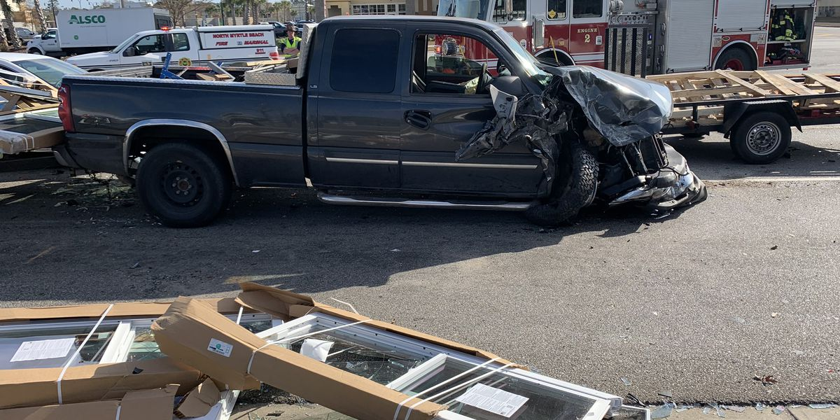 Injuries reported after nine-car crash in North Myrtle Beach