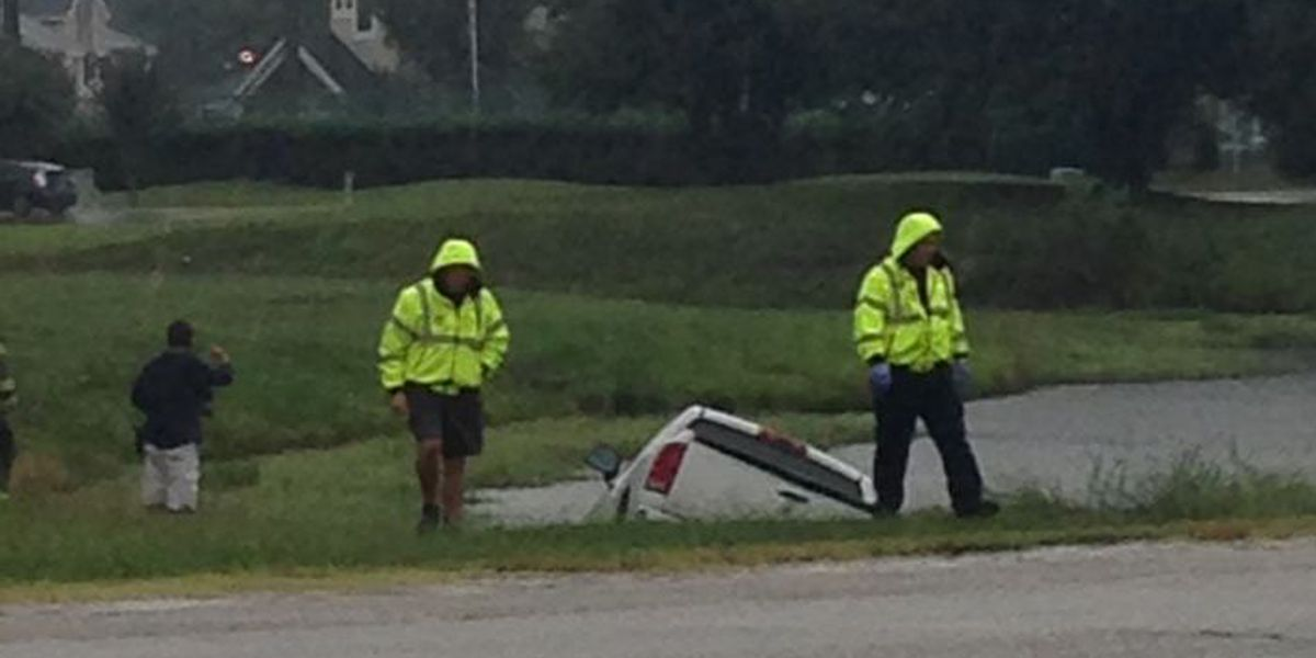 Truck out of ditch off Highway 17 Bypass and 38th Avenue North
