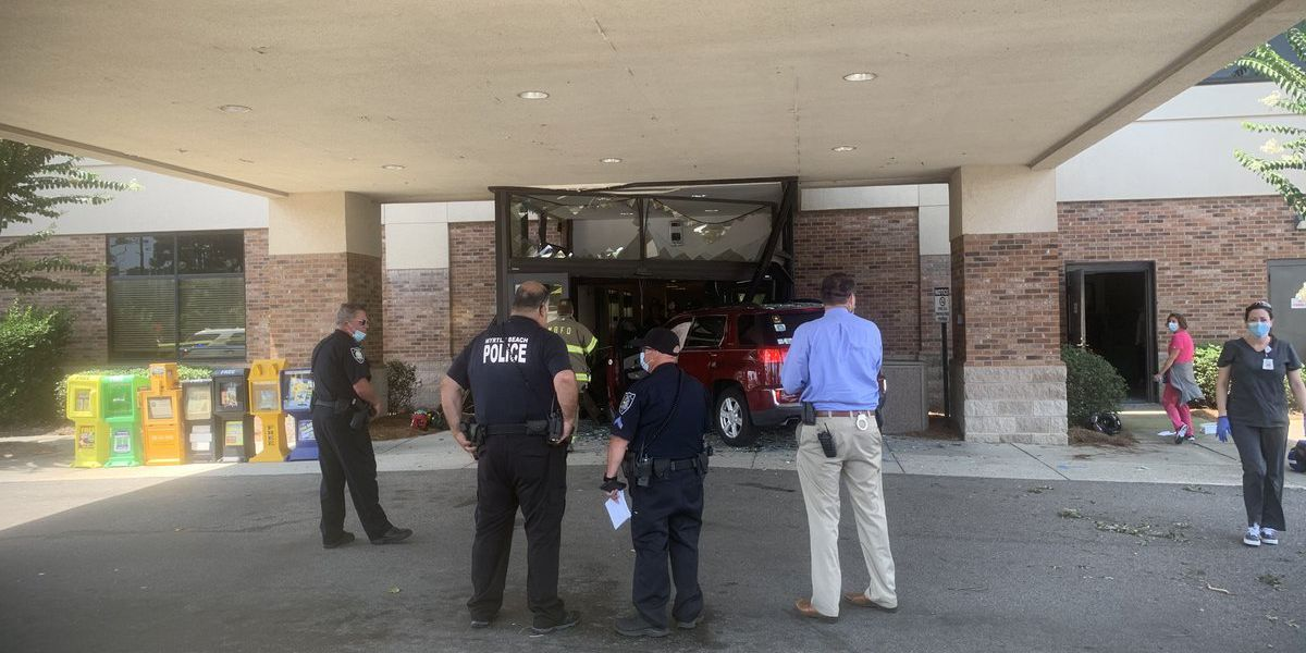 Multiple people injured after vehicle crashes into building in Myrtle Beach