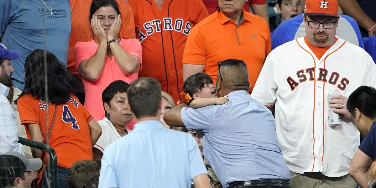 Child hit by line drive at Astros game, Cubs batter breaks down sobbing