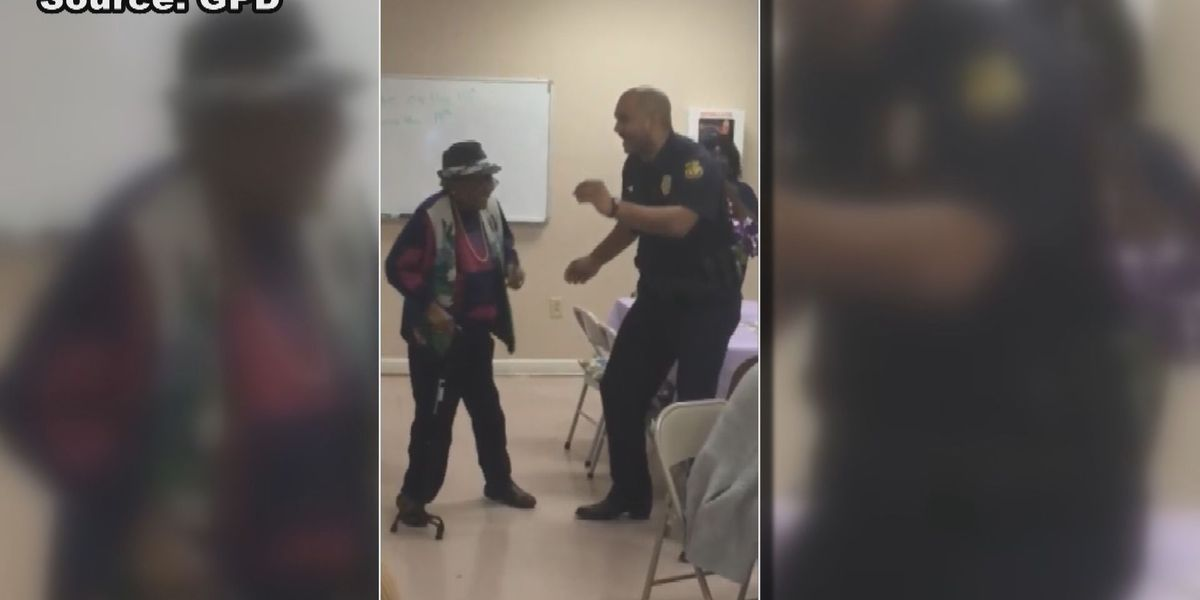 WATCH: Police officer busts a move with elderly citizens