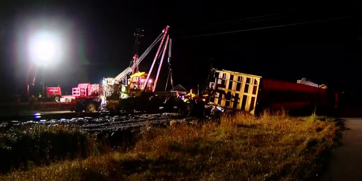Street reopens to traffic after train derailment in Marion County