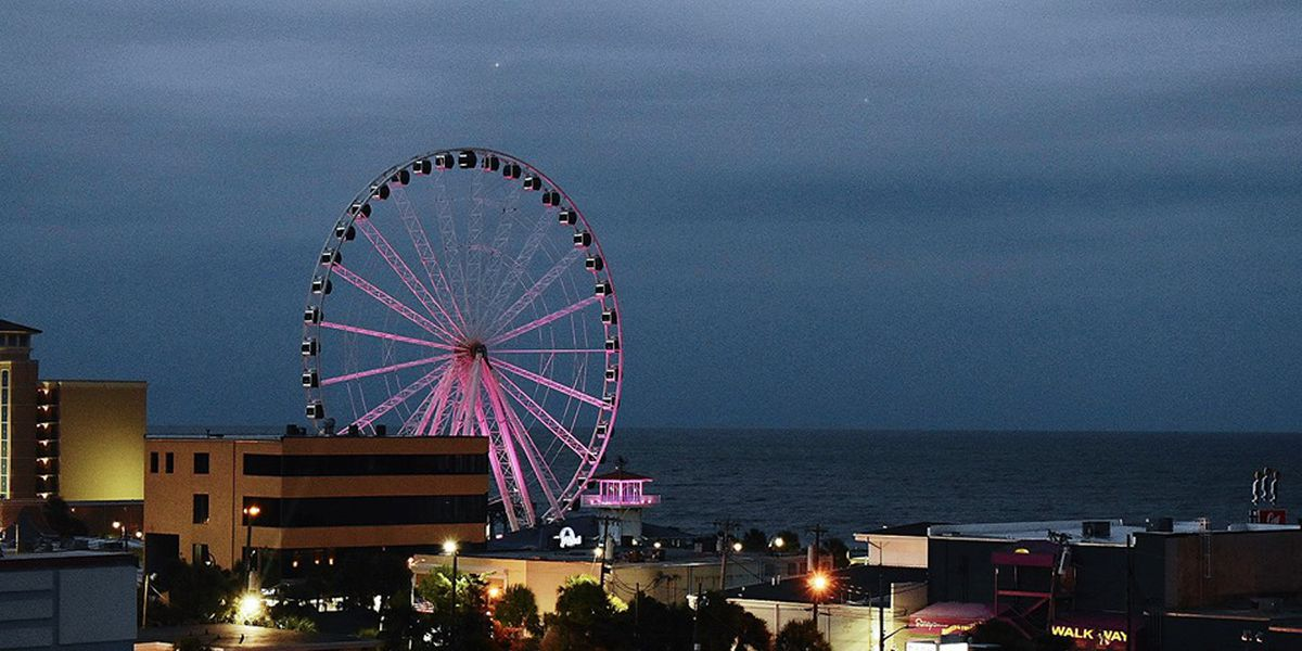 Myrtle Beach SkyWheel goes purple to support Domestic Violence Awareness Month