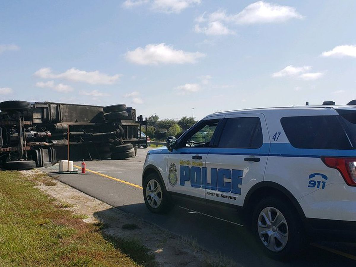 Lanes of Hwy. 17 Bypass North near Pine Island Road reopen after truck overturns