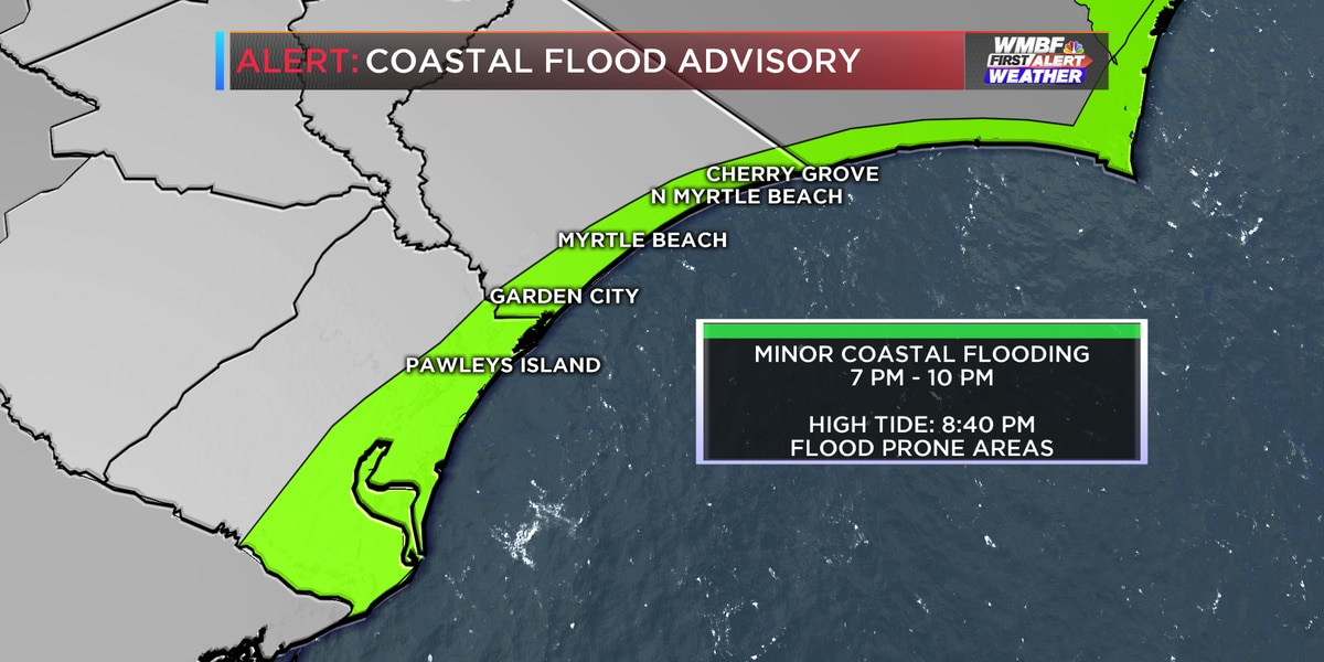 First Alert: Higher tides could lead to minor coastal flooding