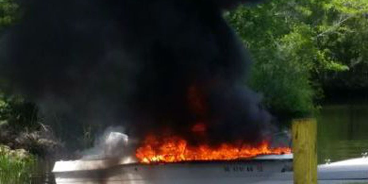 Boat catches fire at Horry County landing