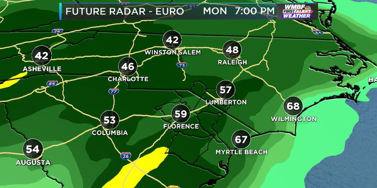 FIRST ALERT: Rain moves in for the work week