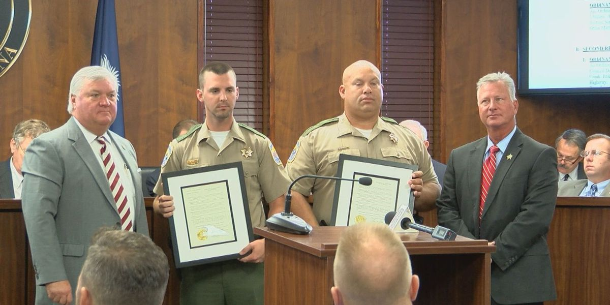Florence County deputies recognized for heroism during I-95 crash
