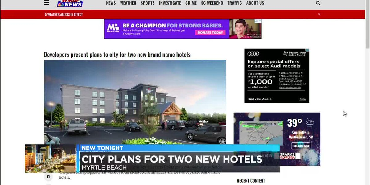 New hotels proposed for Myrtle Beach