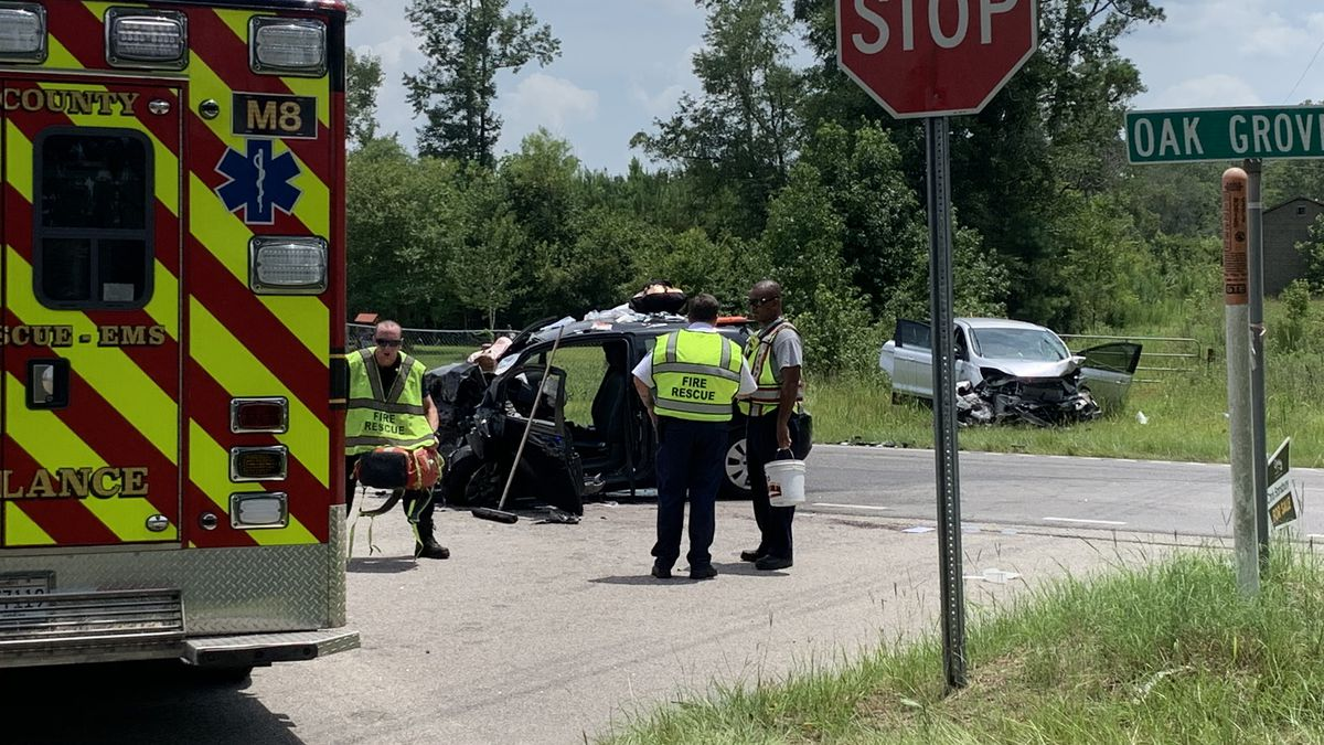 Three people sustain serious injuries in two-car crash on U.S. 378