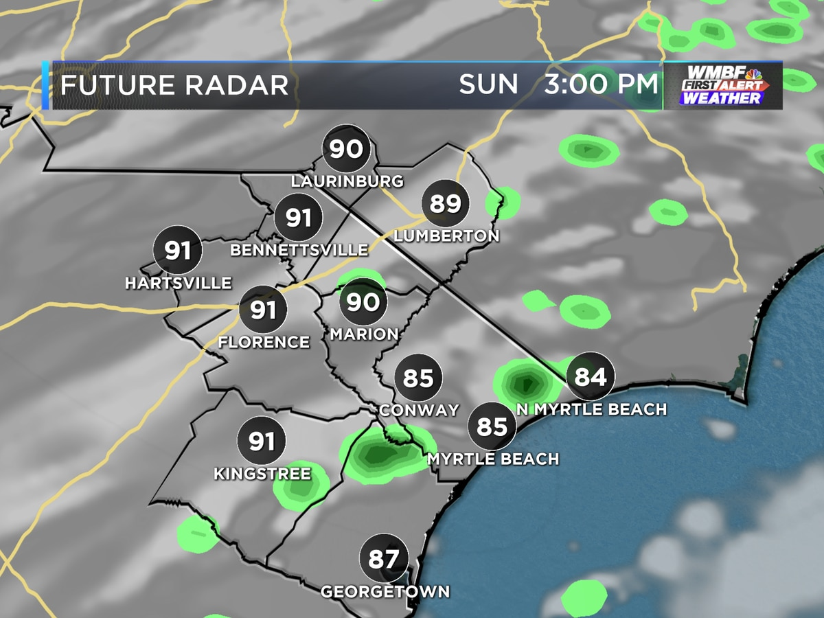 First Alert: A few showers around, cooling trend in sight
