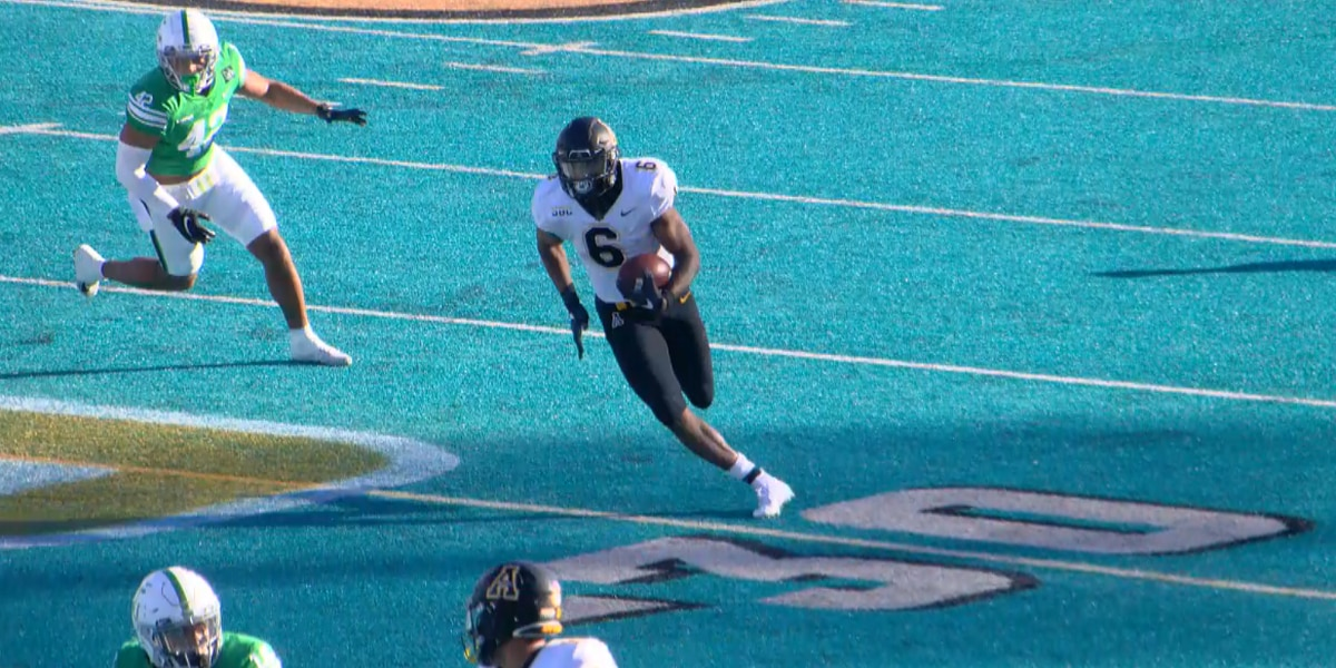 Record-setting day for Peoples leads App State to victory over North Texas in inaugural Myrtle Beach Bowl