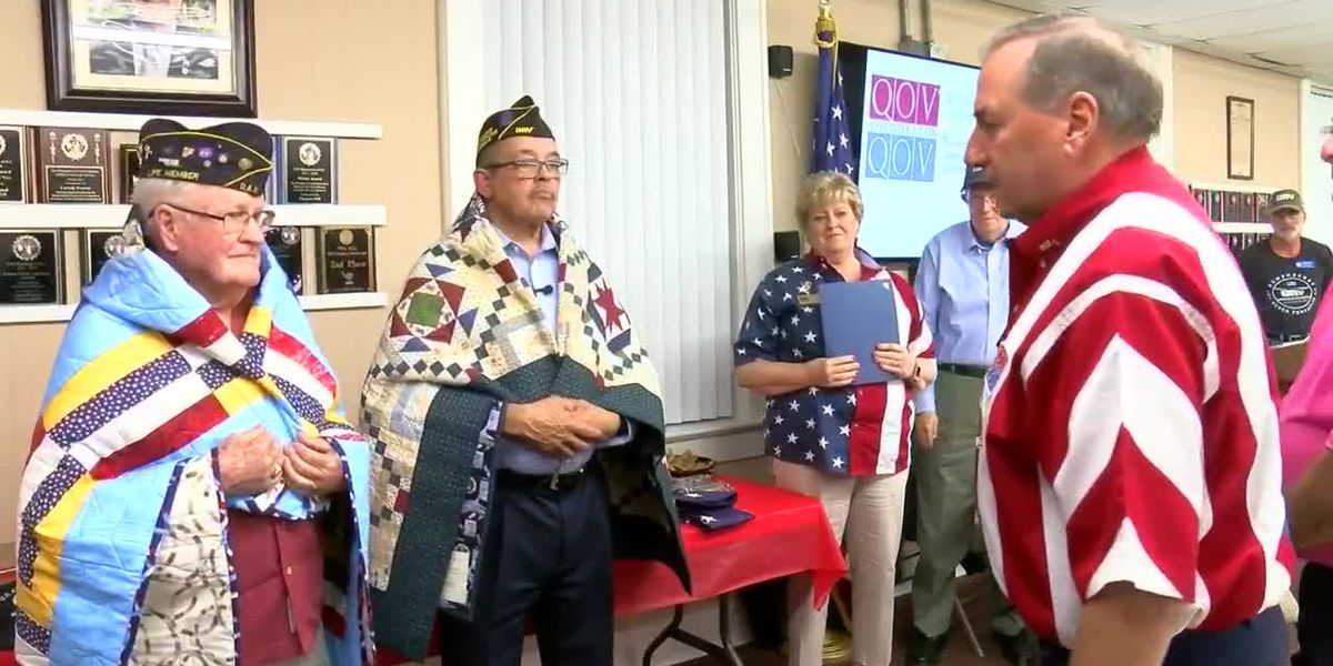 Embrace a Veteran: Two Air Force veterans honored with Quilt of Valor