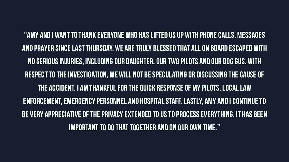 Dale Earnhardt Jr. releases statement after family survives plane crash