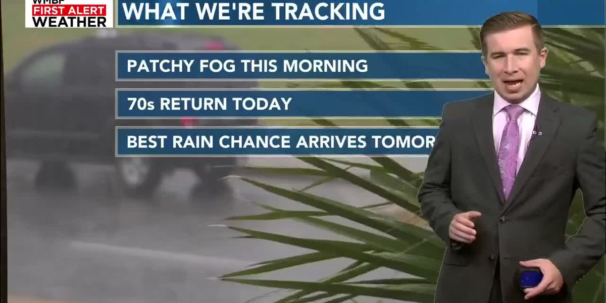 Foggy morning, temperatures climb into the 70s today