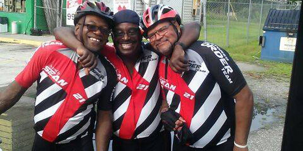 Cyclists stop in MB riding from Florida to Maryland remembering former NFL player