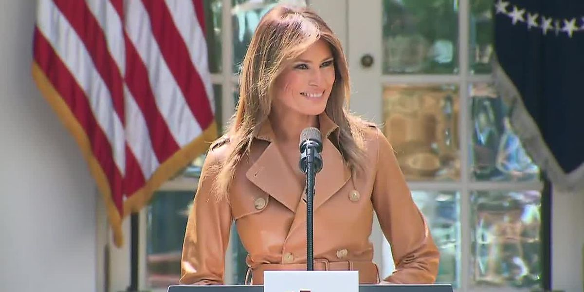 First Lady Melania Trump campaigns for husband in Huntersville