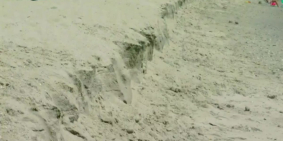 Erosion likely to blame for sharp cliff appearance on Grand Strand beaches