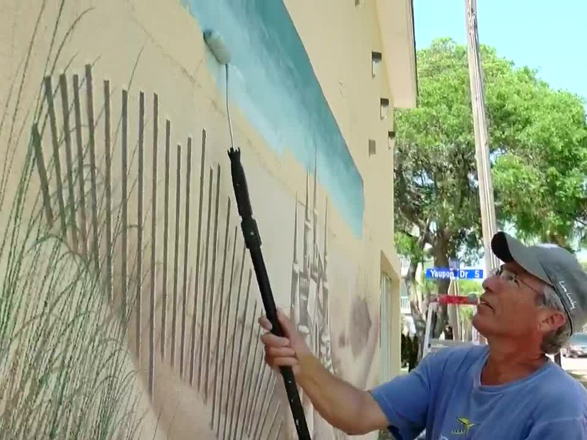 This is Carolina: Son of Myrtle Beach Air Force Base veteran paints latest mural in Grand Strand