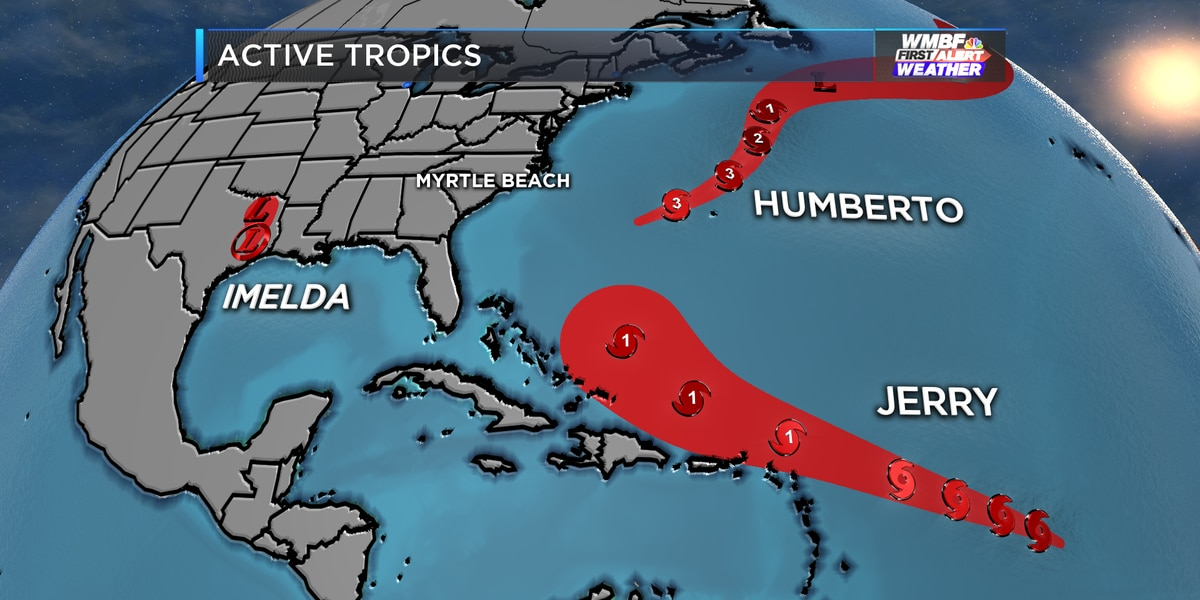 FIRST ALERT: Tropical Storm Jerry forms, still watching Imelda and Humberto