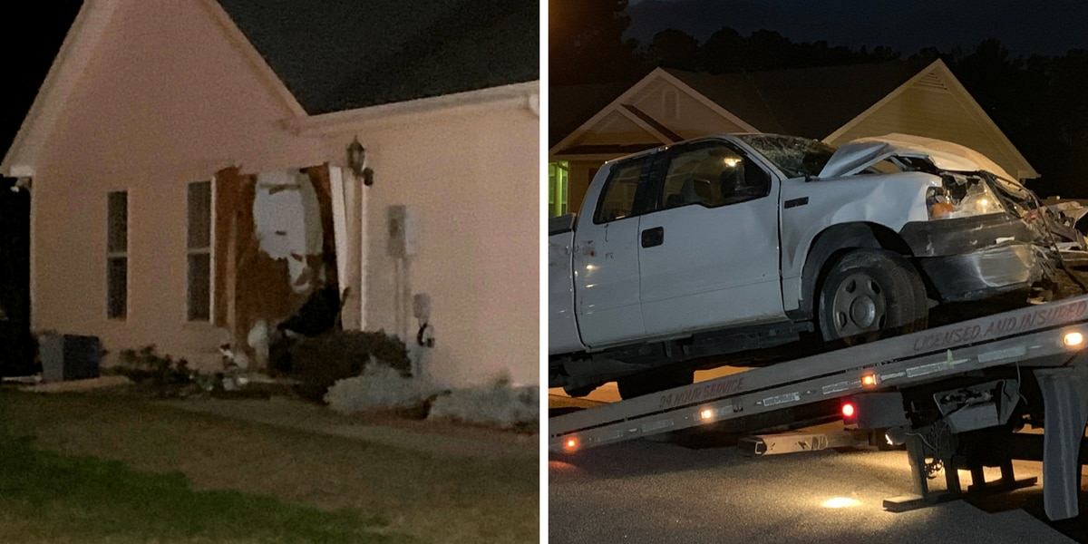 Truck crashes into Horry County home; driver sent to hospital