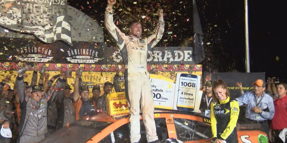 Carl Edwards claims first Southern 500 win