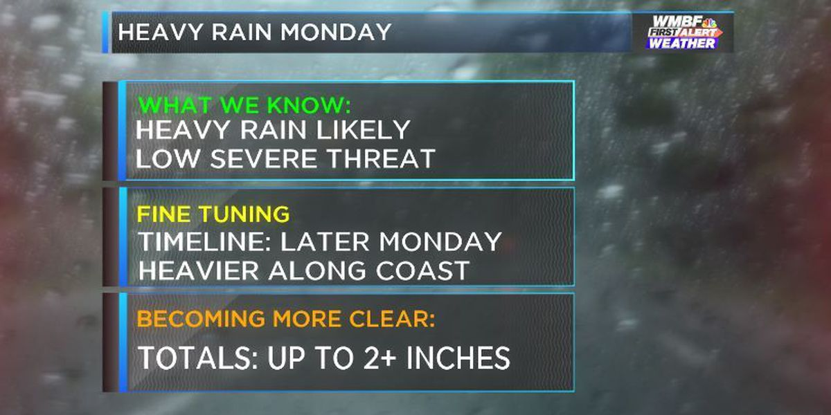 FIRST ALERT: Miserable Monday ahead. Time line, totals and threats from heavy rain moving in