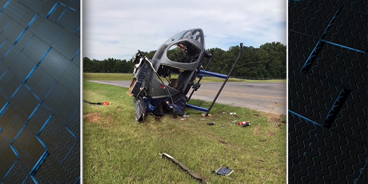Pilot released from hospital after SLED helicopter crashes at Summerville Airport