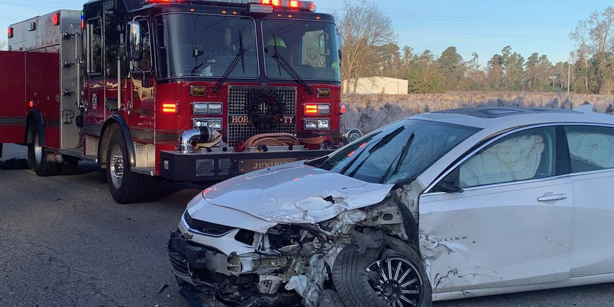 One sent to hospital after two-vehicle crash in Conway