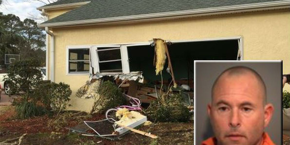 Man admits to crashing vehicle into North Myrtle Beach home
