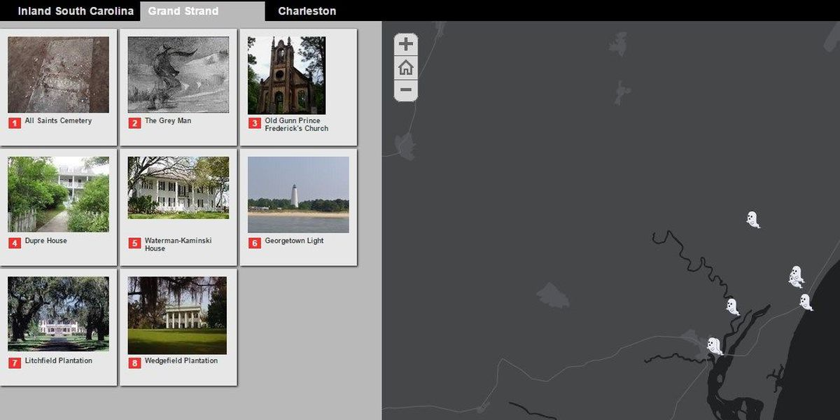 Interactive map shows Grand Strand's haunted locations