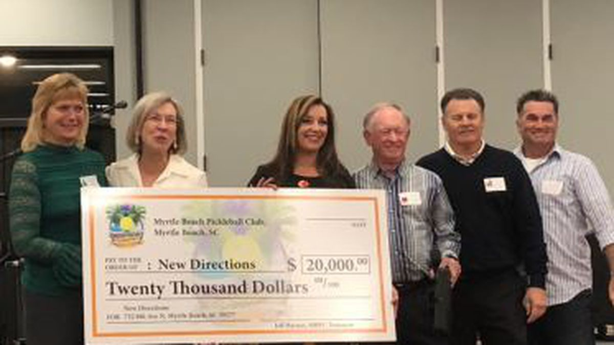 Local pickleball club donates $20,000 to Myrtle Beach homeless charity