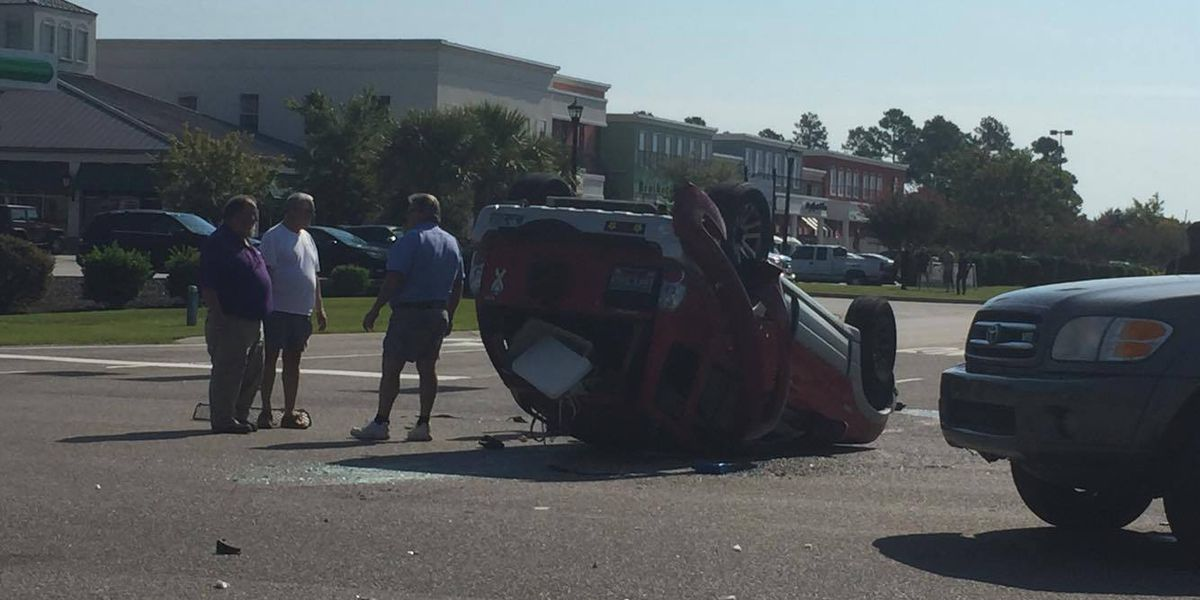 Accident with entrapment reported on Carolina Forest Blvd.