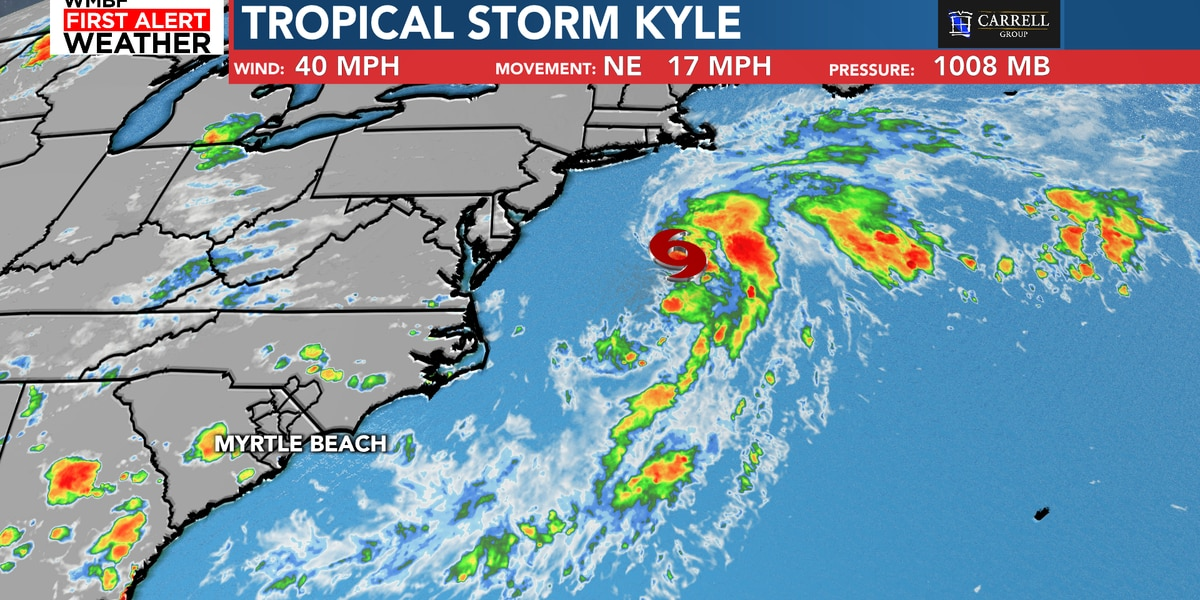 "FIRST ALERT: Tropical Storm Kyle forms, earliest ""K"" storm on record"