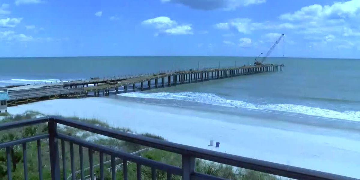 'It's really sturdy now': Springmaid Pier construction close to completion; reopening set for June 1