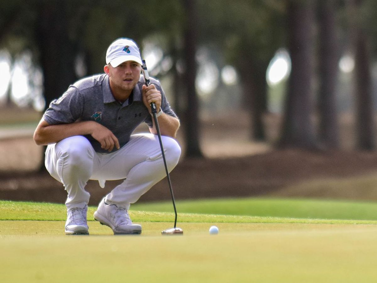 CCU's Zack Taylor shoots a 63 to place ninth at Stitch Intercollegiate