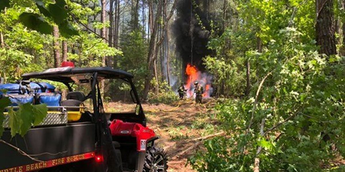 North Myrtle Beach firefighters battle equipment fire