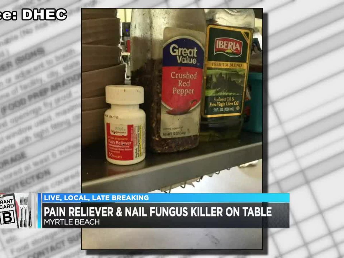 Restaurant Scorecard: Pain reliever, nail fungus killer found near seasonings at one eatery