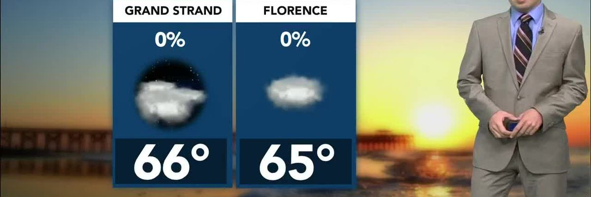 Changes arrive for the new week, increasing rain chances Tuesday
