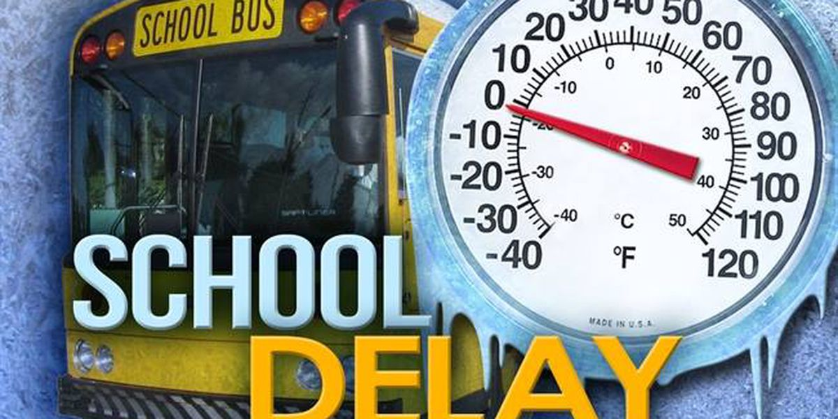 Several schools operate on delays Monday