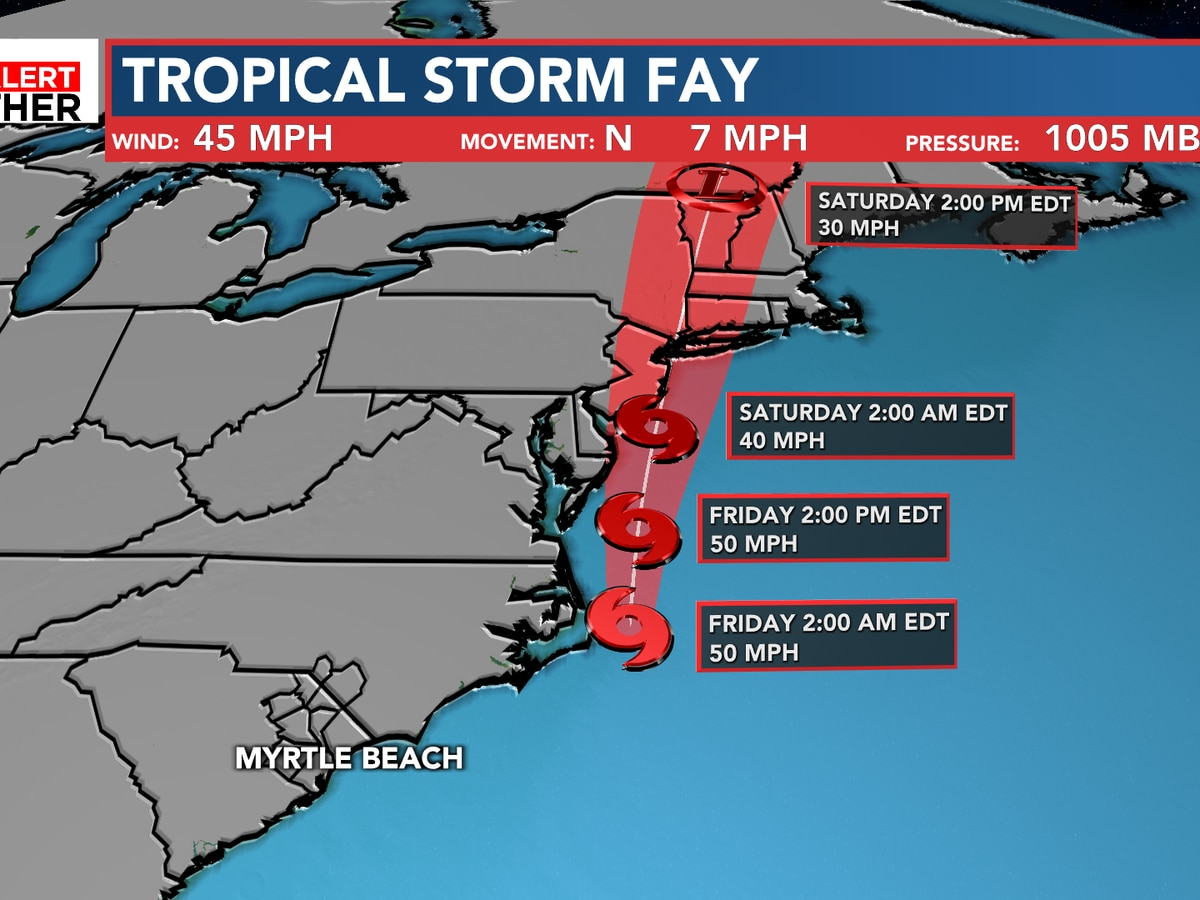 Tropical Storm Fay becomes sixth storm of 2020 hurricane season