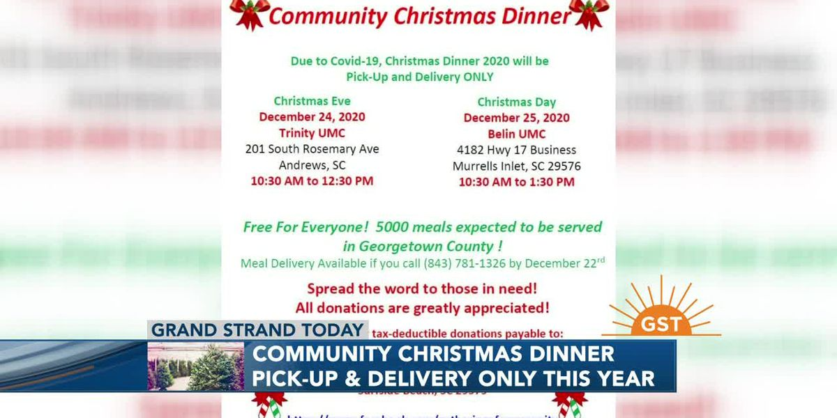 32nd Annual Community Christmas Dinner will be pick-up or delivery only this year