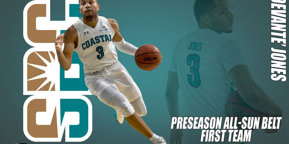 CCU guard DeVante' Jones named preseason All-Sun Belt
