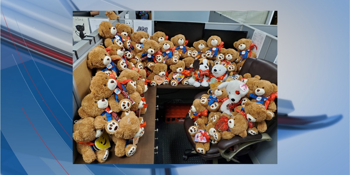 MBPD receives large donation of teddy bears for children ahead of Valentine's Day