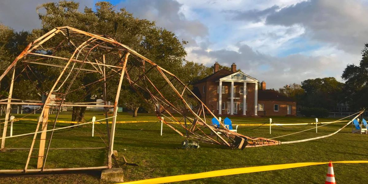 Historic Southport weather tower toppled in overnight storm