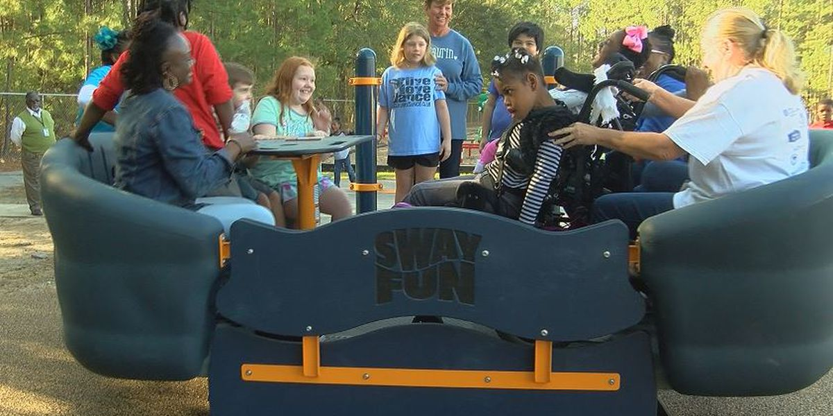 New inclusive playground equipment installed at Florence school