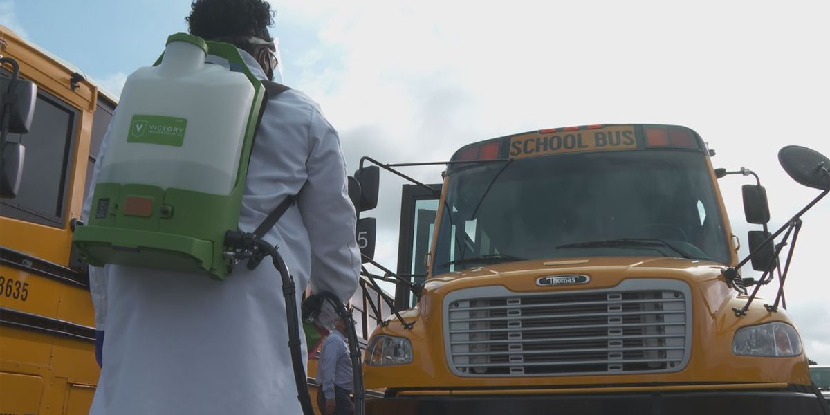 SC school buses will be disinfected with electrostatic sprayers