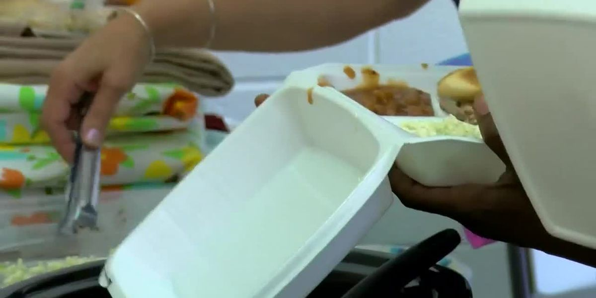 Salvation Army gives away food in Conway