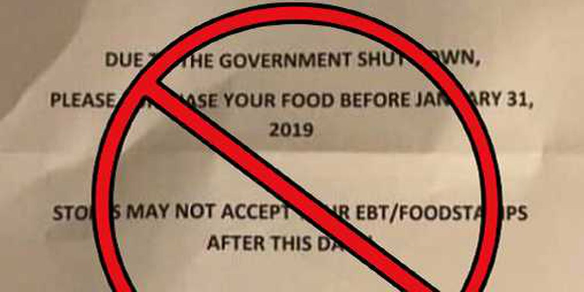 Fake flyer spreading on social media regarding February SNAP benefits for SC recipients