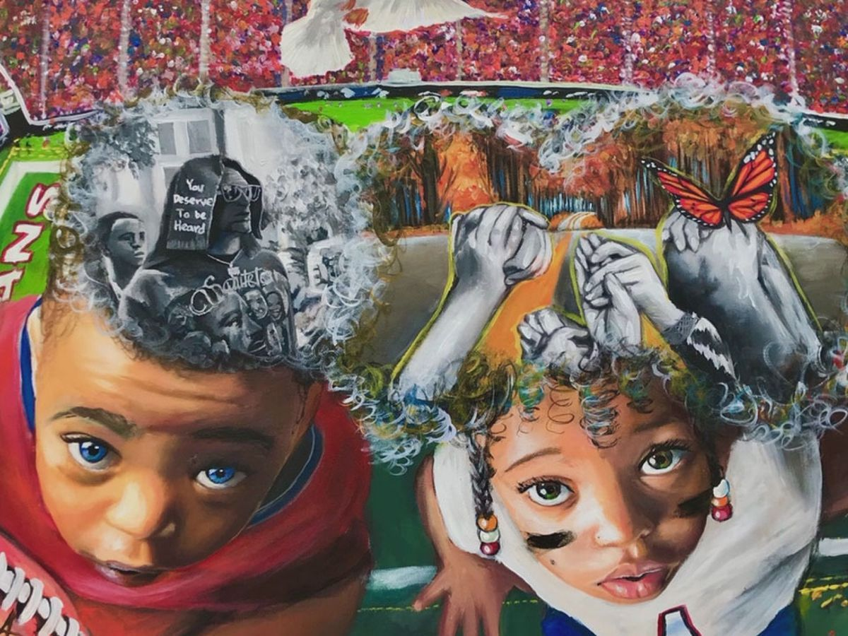 NFL spotlights Columbia artist's painting as part of new initiative